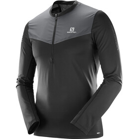 Salomon M's Fast Wing Half Zip LS Tee Black/Forged Iron